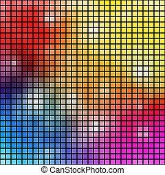 experiência., vetorial, coloridos, mosaico