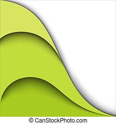 experiência., vetorial, desenho, verde