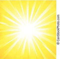 experiência., vetorial, sunburst, shinny