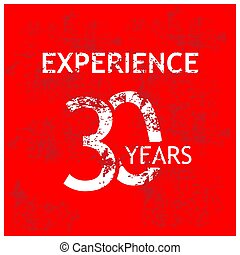 Experience 30 years stock vector template. vector illustration