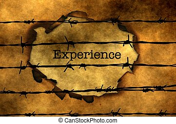 Experience concept against barbwire