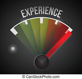 experience level measure meter from low to high, concept...