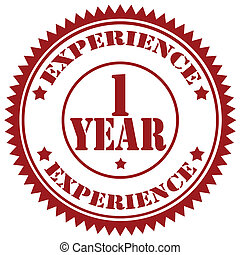Experience-stamp - Rubber stamp with text 1 Years Experience...