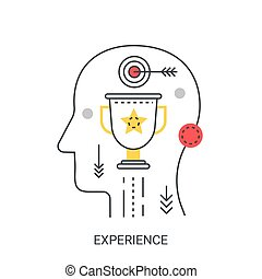 Experience vector illustration concept.