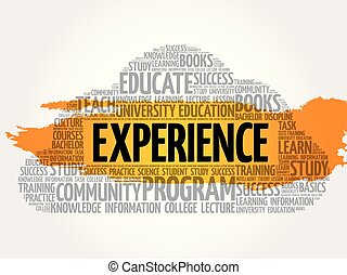 Experience word cloud collage