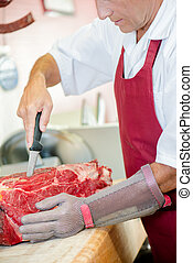Experienced butcher knows how to prepare beef