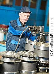 experienced industrial assembler worker