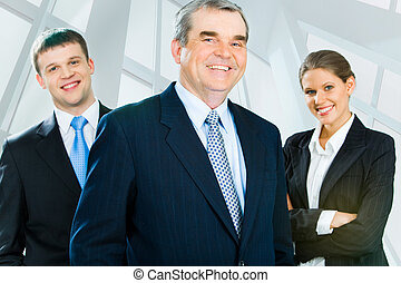Experienced leader - Portrait of senior boss looking at ...
