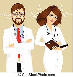 experienced male and female doctors