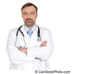 Experienced male doctor in his office