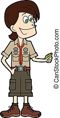Experienced scoutmaster with a compass.eps