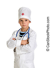 Experienced successful doctor with a stethoscope