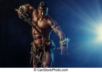 experienced warrior - Portrait of a handsome muscular...