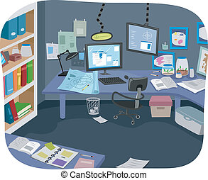 Experiment Roo M - Illustration of an Experiment Room with ...