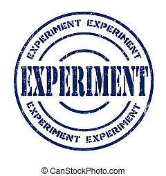 Experiment stamp - Experiment grunge rubber stamp on white,...