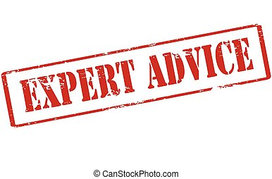 Expert advice - Rubber stamp with text expert advice inside,...