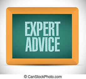 expert advice message sign illustration design