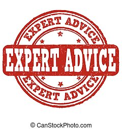 Expert advice stamp - Expert advice grunge rubber stamp on...