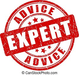 Expert advice vector stamp