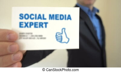 expert, business, média, présent, social, carte