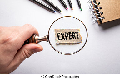 Expert. Business, service, knowledge and communication concept
