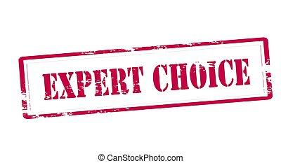 expert, choix