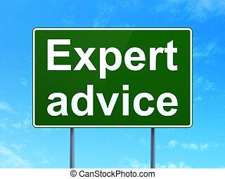 expert, conseil, signe, route, fond, droit & loi, concept: