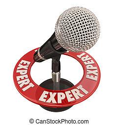 Expert Microphone Knowledge Wisdom Interview Public Speaking