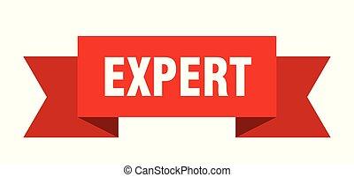expert ribbon. expert isolated sign. expert banner
