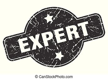 expert round grunge isolated stamp