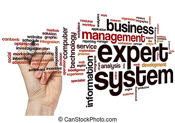 Expert system word cloud