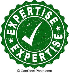 Expertise Grunge Stamp with Tick