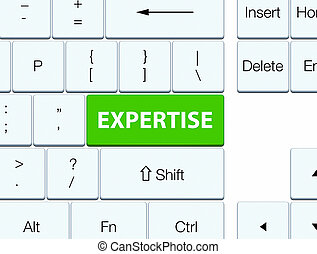 Expertise soft green keyboard button