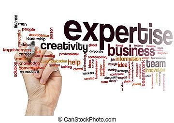 expertise, woord, wolk