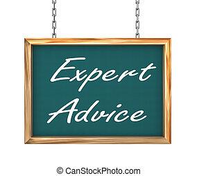 experto, consejo, -, ahorcadura, bandera, 3d