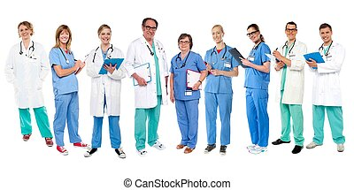 experts, monde médical, groupe, ton, service