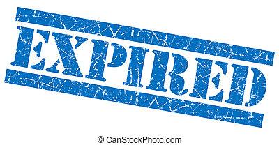 Expired blue grunge stamp