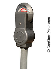 Expired Parking Meter - Time Expired on Vintage Parking...