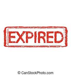 EXPIRED stamp text Illustration