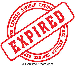expired word stamp7 - expired in vector format