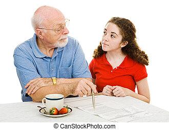 Explaining Democracy - Grandfather explains democracy to his...
