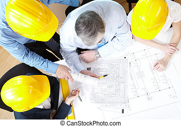 Explanation - Portrait of architect explaining his project...