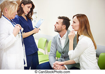 expliquer, monde médical, parents, résultats, malades, équipe