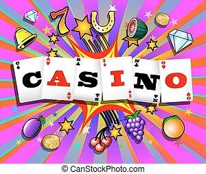 explodieren, kasino, hintergrund