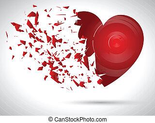 explodindo, coração