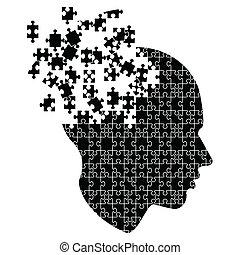 explodindo, mente, idéias