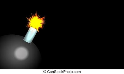 Exploding Bomb Animation - A simple cartoon style video...