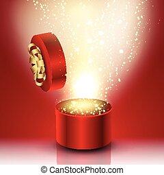 Exploding gift box
