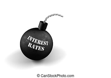 Exploding Interest Rates - conceptual image for exploding...