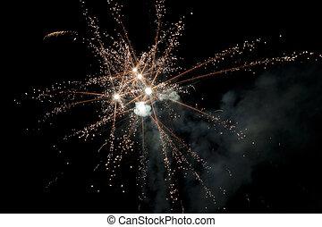 exploding into sparkles
